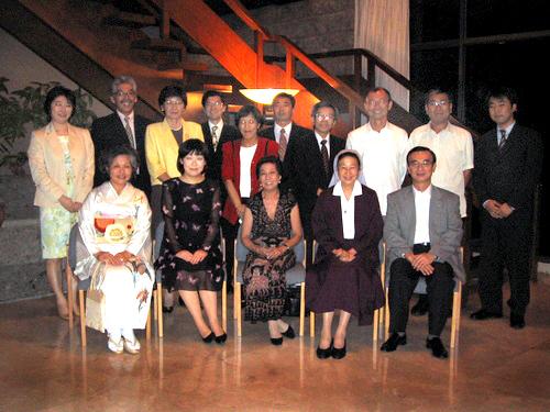在フィリピン日本大使公邸コンサート後。